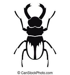 male rhinoceros beetle vector illustration fighting male siamese Luna Moth rhinoceros beetle icon simple style