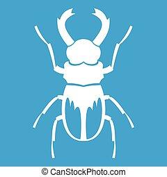 Rhinoceros beetle icon white