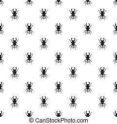 Rhinoceros beetle pattern vector