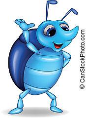 Vector illustration of rhinoceros beetle