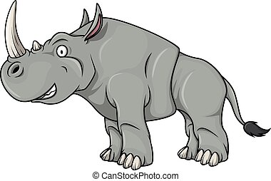 Rhinoceros cartoon illustration