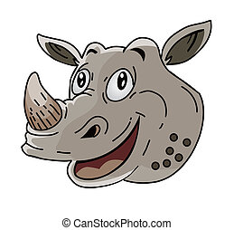 Rhinoceros head Cartoon