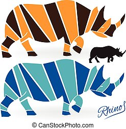 Rhinoceros icon logo