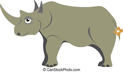 Rhinoceros illustration vector on white background