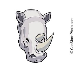 Rhinoceros - This is a vector illustration of rhinoceros