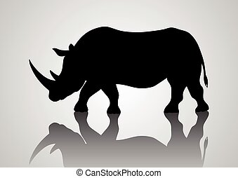 Rhinoceros - Silhouette illustration of a rhinoceros
