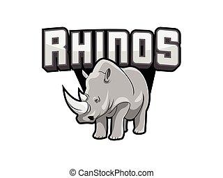 rhinos logo illustration design