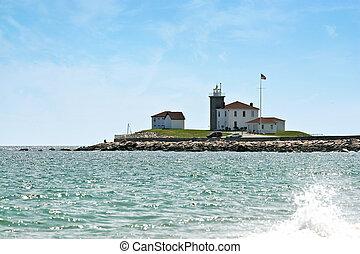rhode, 灯台, 腕時計, 丘, 島