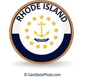 rhode, estado, ilha, selo