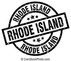 Rhode Island black round grunge stamp