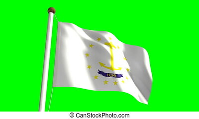 Rhode Island flag (with green scree