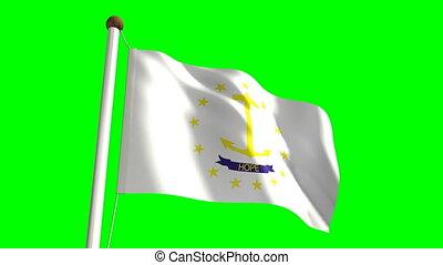 Rhode Island flag (with green scree