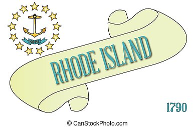 Rhode Island Scroll - A scroll with the text Rhode Island ...