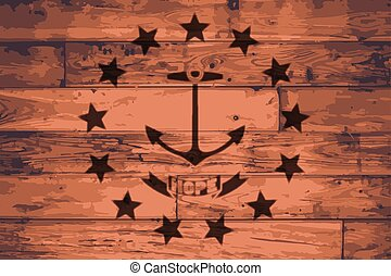 Rhode Island State Flag Brand