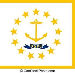 Rhode Island state flag. Vector illustration