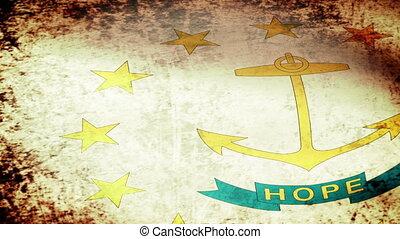 Rhode Island State Flag Waving