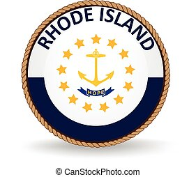 Rhode Island State Seal - Seal of the American state of...