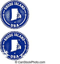 Rhode Island USA Stamps - A couple of distressed stamps ...