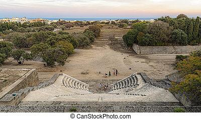 Rhodes Ancient Roman Conservatory Panorama