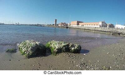 Rhodes city port, Greece,