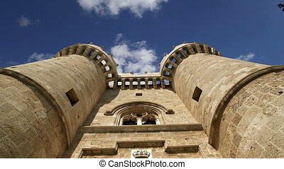Rhodes Island, Greece, a symbol of Rhodes, of the famous...