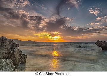 Rhodes Kato Petres Beach Glorious Sunset