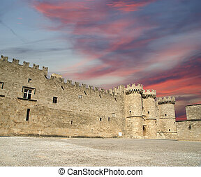 Rhodes Medieval Knights Castle (Palace), Greece - Rhodes ...