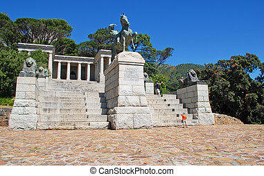 Rhodes Memorial monument in Cape Town, South Africa