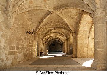 rhodes, mittelalterlich, ritter, hofburg, (palace), griechenland