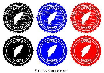 Rhodes - rubber stamp