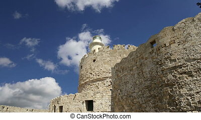 Rhodes Tower of St. Nicholas,Greece