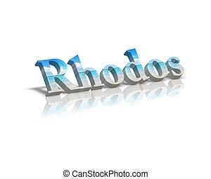 rhodos, 3d, palavra