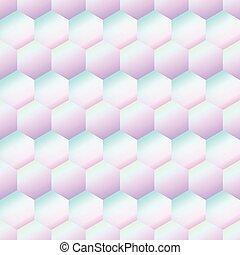 rhombe, modèle, holography