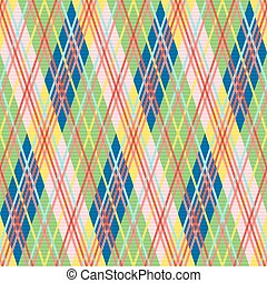 Rhombic seamless pattern in bright colors