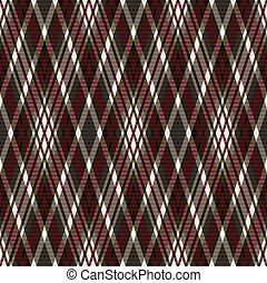 Rhombic seamless pattern in grey, brown and red