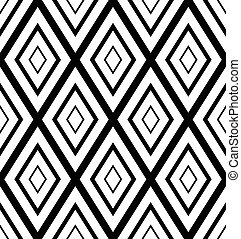 Rhombs, diamonds repeatable pattern, background. Vector art.