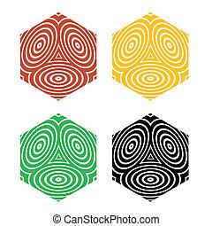 rhombs, optický, charakter