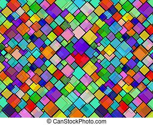 Rhombus city - Rhombus texture pattern