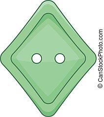Rhombus cloth button icon, cartoon style
