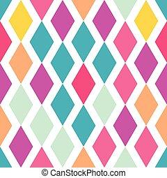 rhombus colored pattern