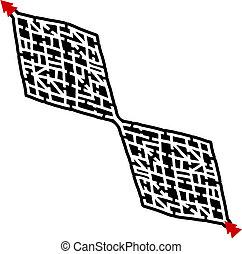 Rhombus maze