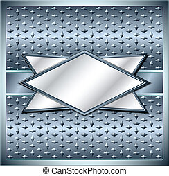 Rhombus metal frame - Rhombus frame with spikes on metal...