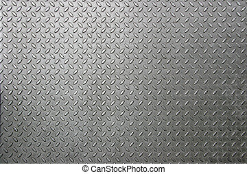 Rhombus Metal Plate - industrial metallic panel with a...