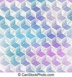 Rhombus watercolor seamless pattern.