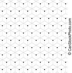 rhombus with stars - Seamless geometric pattern. Fashion ...