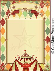 Rhombuses circus vintage background - A vintage circus ...
