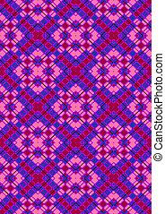 rhombuses, viola, rosa, checkered