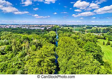 Rhone - Rhine Canal near Strasbourg - France