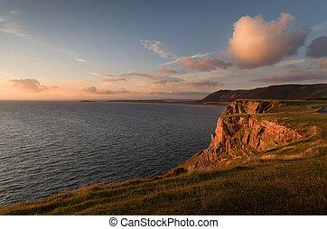 Rhossili Bay cliffs, South Wales