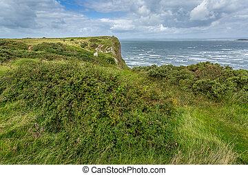 Rhossili Bay view, South Wales, UK